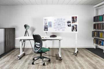 Tilt Top, Sit Stand Table with Whiteboard Surface
