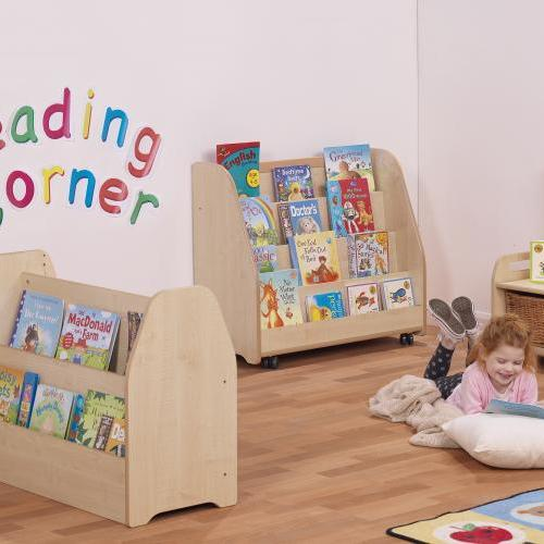 Wooden book and toy storage