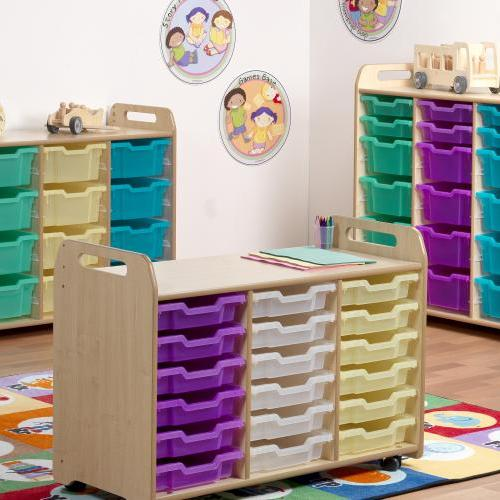 Wooden tray unit storage nurseries