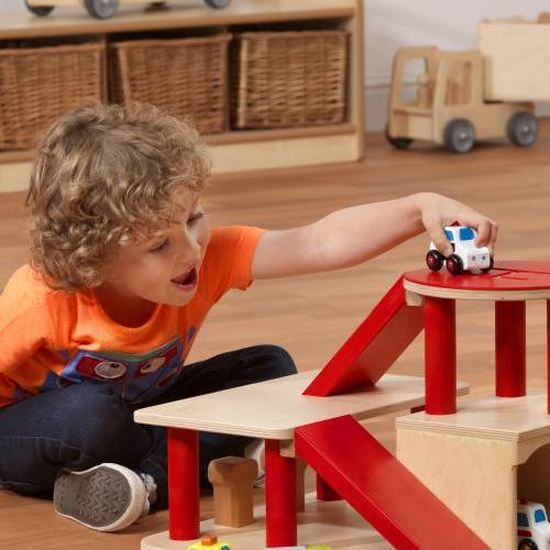 Wooden play equipment - car garage