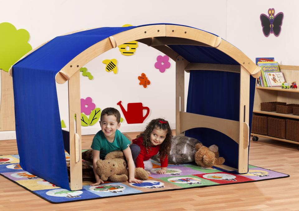 Early years blue play canopy bridge tent.