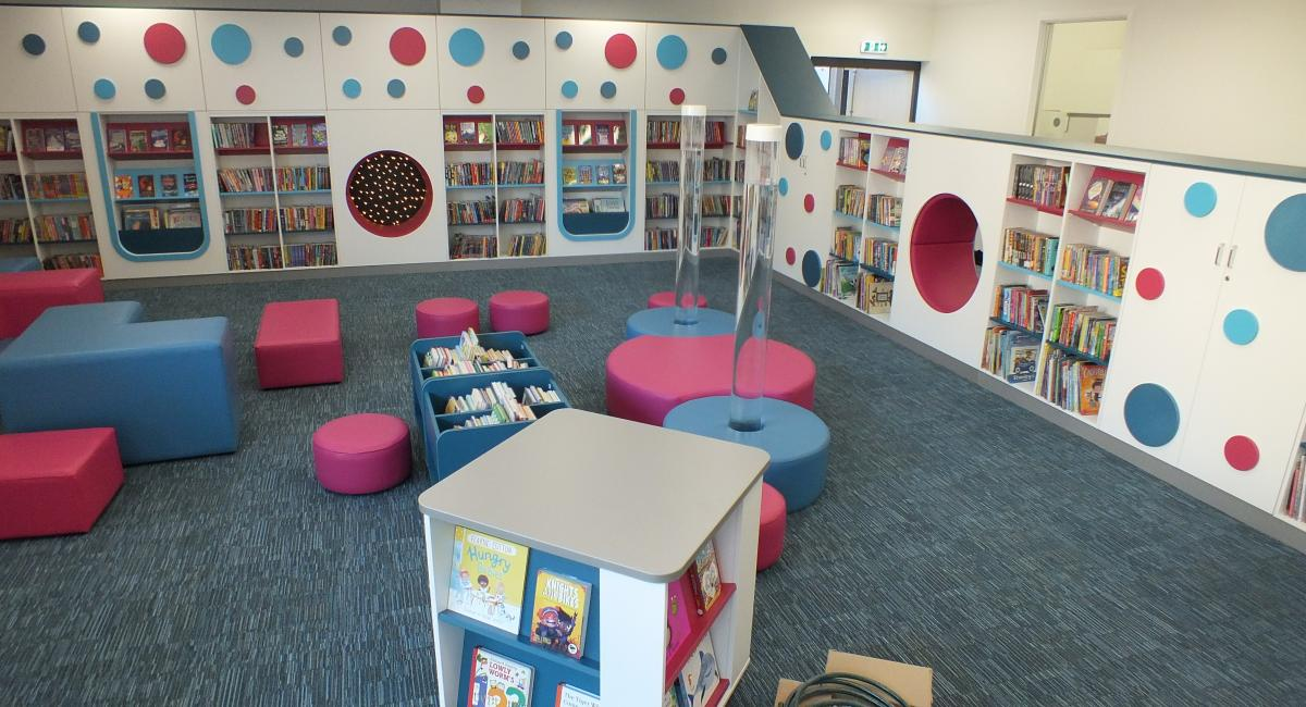Aylesbury Library Childrens Area - Storey Wall Area