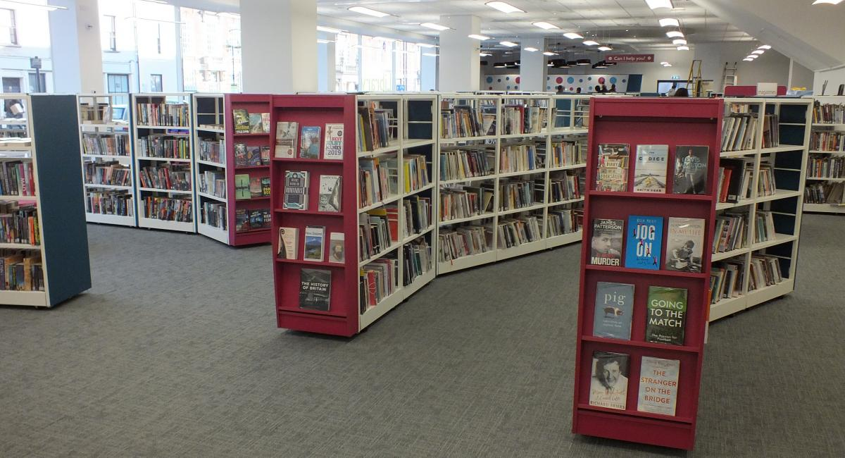 Aylesbury Library - Wooden Book Shelving