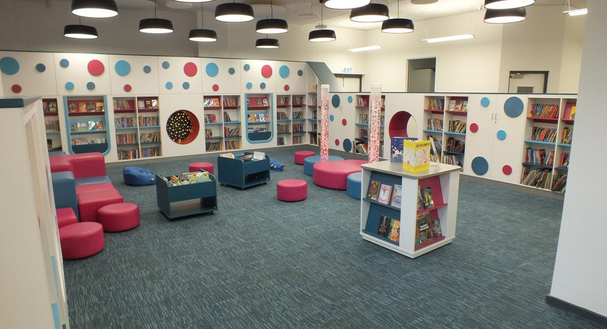 Aylesbury Library Children's Reading Area Furniture