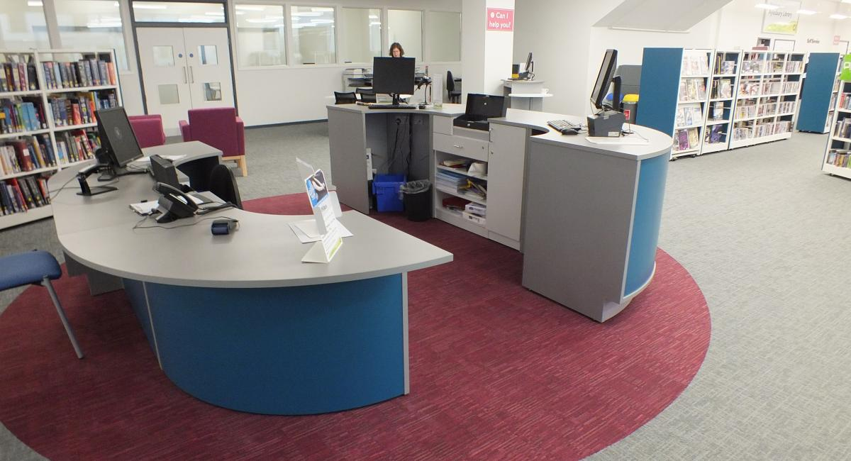 Aylesbury Library, Welcome Counter Desk
